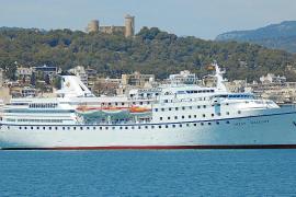 "Die ""Ocean Majesty"" machte am Dienstag in Palma fest."