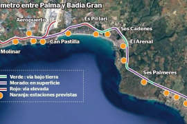 Fährt bald ein Zug von Palma bis nach Badia Gran?