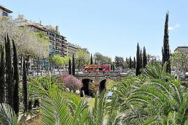 Voilà, heute befindet sich an der stelle der Paseo Mallorca.