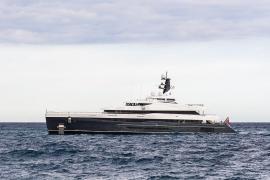 """Luxusyacht """"Elandess"""" in der Bucht von Palma"""