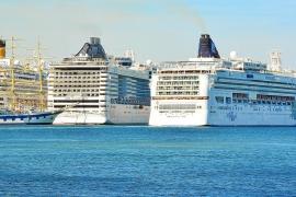 299 Kreuzfahrtschiffe machen im Sommer in Palma fest