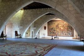 Der gotische Empfangssaal im Almudaina-Palast. In dem ursprünglich römischen Bauwerk finden sich Überreste aus einer 1281 begonn