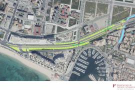 Arbeiten am Paseo Marítimo in Palma beginnen