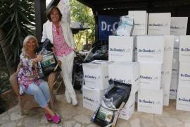 Drews nimmt in Santa Ponça 4,8 Tonnen Tierfutter entgegen