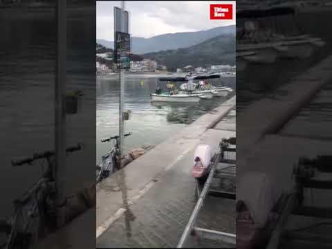Mini-Tsunami überschwemmt Port de Sóller