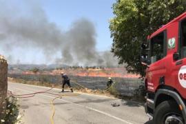 Großflächiger Strauchbrand nahe Kloster auf Mallorca