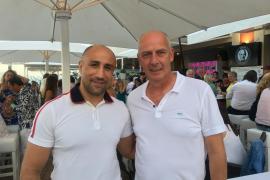 Zur Eröffnung von Mario Baslers Café in Cala Ratjada kam auch Box-Weltmeister Arthur Abraham.
