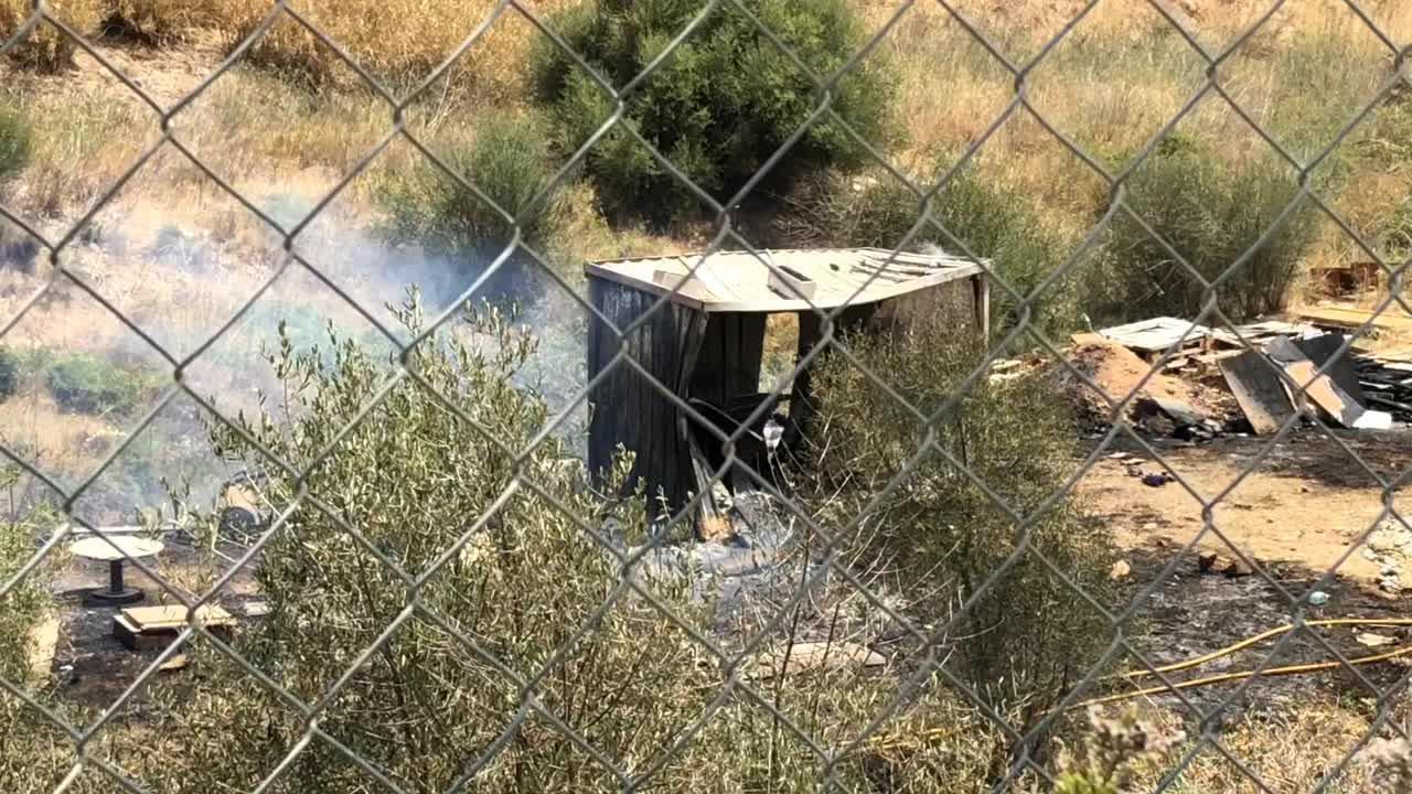 Schwerer Strauchbrand in Gewerbegebiet in Palma