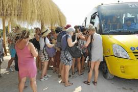 Geteilte Meinungen über Shuttlebus zum Es Trenc
