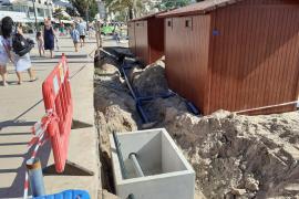 Bauarbeiten mitten in der Hochsaison am Sóller-Strand