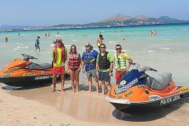 15 Rettungsschwimmer am Muro-Strand im Einsatz