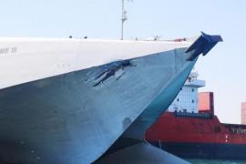 Zwei Fähren in Port d'Alcúdia kollidiert