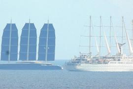 Große Luxusyacht-Parade vor Mallorca