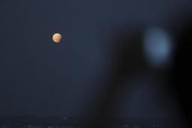 Partielle Mondfinsternis am Abend auf Mallorca
