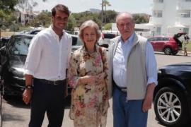 Rafael Nadal, Sofía und Juan Carlos.