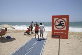 Strand von Ciutat Jardí schon wieder dichtgemacht