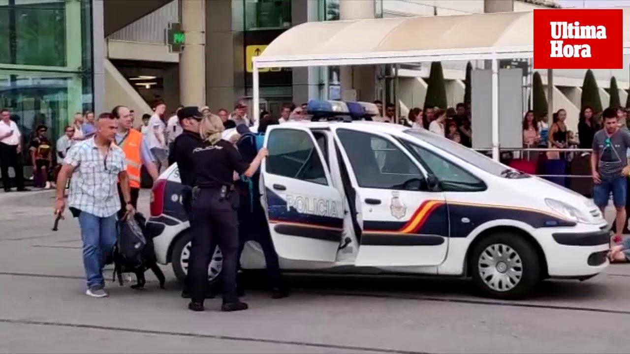 Aggressive Urlauber am Flughafen Palma festgenommen