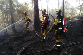 Feuerwehr muss Waldbrand bei Esporles löschen