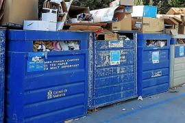 Kein schöner Anblick: Container in Alaró.