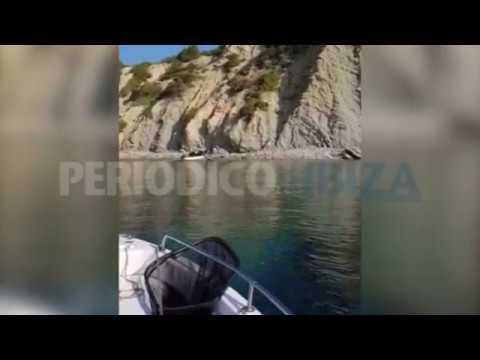 Fischer filmt die Ankunft eines Flüchtlingsbootes auf Ibiza
