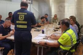 Katastrophenhelfer auf Mallorca.