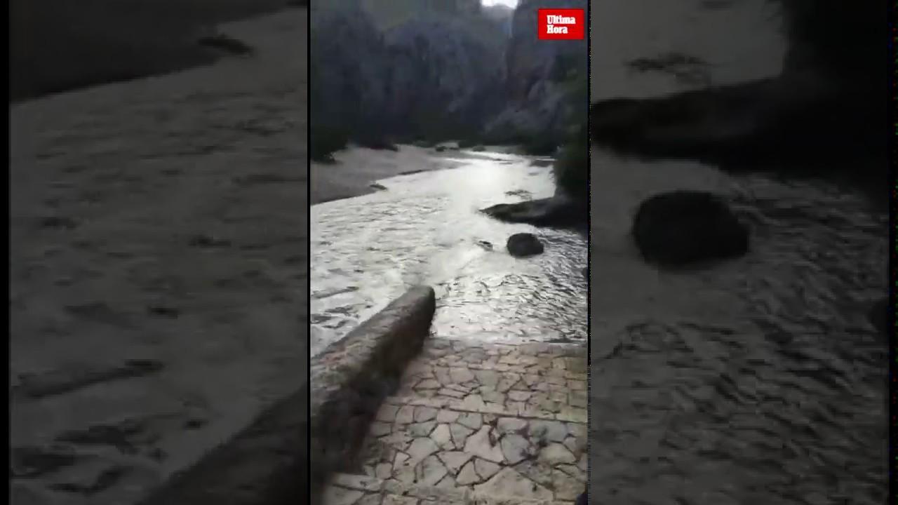 Torrent de Pareis nach Unwetter ein reißender Strom