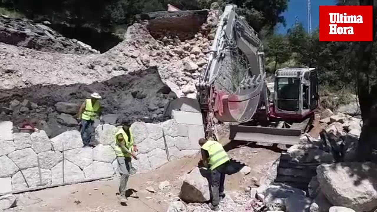 Trockensteinmauer an Lluc- Straße wird wiederhergestellt