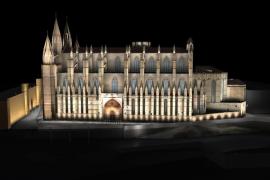 Kathedrale von Palma wird weiß statt farbig angestrahlt