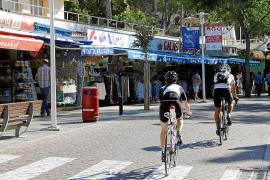Radfahrer sind in Peguera immer willkommen.