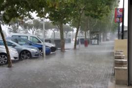 Ein Unwetter zieht über Mallorca hinweg
