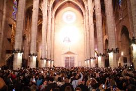 Großes Lichtspektakel in der Kathedrale