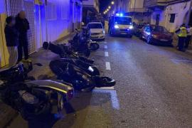 Sieben Motorroller auf einen Schlag in Palma beschädigt