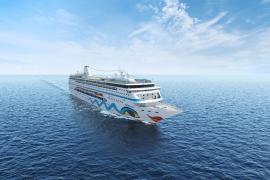 Supermodel Franziska Knuppe tauft Oceanliner Aida-Mira