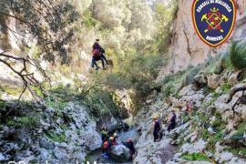 Wanderin stürzt bei Marratxí fünf Meter tief in Schlucht