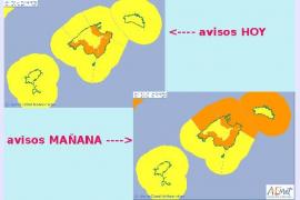 Warnstufe Orange gilt seit Dienstagabend auf Mallorca