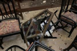Sturmtief zerstört Rosette der Kirche von Sa Pobla