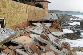 Uferwege in Cala Rajada ramponiert, S'Illot-Strand weg