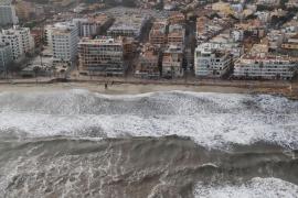 Cala Millor hat derzeit nur einen Rest-Strand.