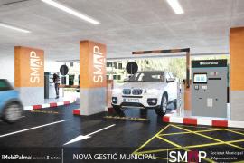 Parkplatz als Option unterhalb der Plaça Major in Palma