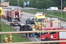 Todessturz verursacht Unfall auf Llucmajor-Autobahn
