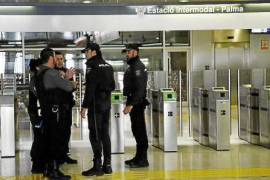 Randale in Palma de Mallorcas Bahnhof