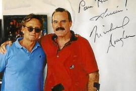 Kurze Zeit nach seinem schweren Unfall 1999 traf der Rennfahrer zum zweiten Mal auf Hollywoodstar Michael Douglas.