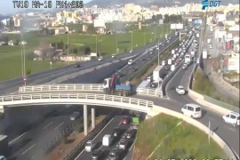 Verkehrschaos nach Unfall auf Llucmajor-Autobahn