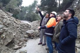Straße von Alaró nach Orient wieder einspurig befahrbar