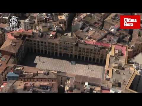 Polizei zeigt Luftbilder von leergefegtem Mallorca