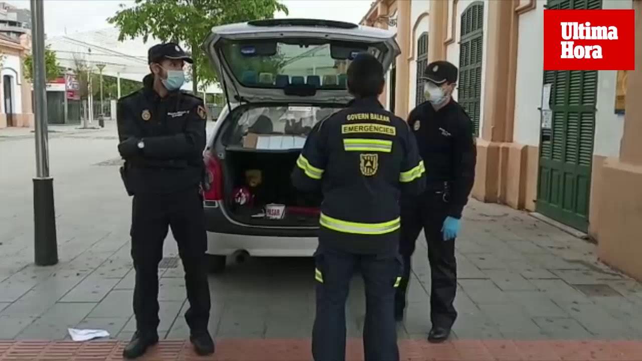 Masken an Bahnhöfen und Bushaltestellen verteilt