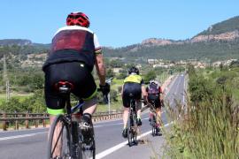 Polizisten verfolgen Radfahrer im Norden von Mallorca
