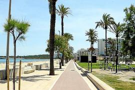 Kein Mensch auf der Uferpromenade.