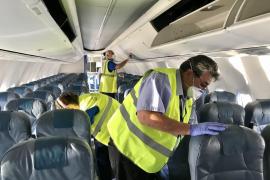Eine Stunde Flug, zwei Stunden Desinfektion