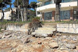 Viele Treppen und Gehwege sind vom Sturm Gloria zerstört worden.